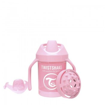 Мини чаша с шейкър Twistshake 230 мл 4+ месеца розова