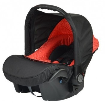 Бебешко кошче за кола Baby Merc Zipy - Черно и червено
