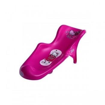 Бебешка седалка за вана с подложка Hello Kitty розова