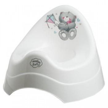 Детско гърне - Меченца перлено бяло