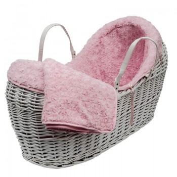Плетено кошче за новородено с обиколник