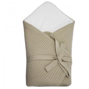 Плетено одеяло за бебета бежово
