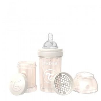 Шише против колики за бебета Twistshake 180 мл - Колекция Перла шампанско