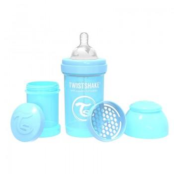 Шише за бебета против колики Twistshake 260 мл. светло синьо