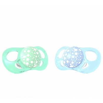 Залъгалки за бебета Twistshake 2 бр. 0-6 месеца синьо и зелено