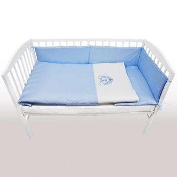 Бебешки спален комплект от 3 части - лъвче син
