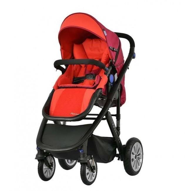 Комбинирана количка 2 в 1 Zooper Flamenco Flaming Plaid, червена