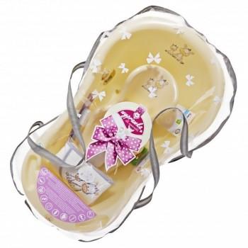 Комплект за къпане за новородено бежов