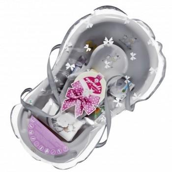 Комплект за къпане за новородено сив