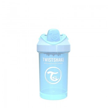Преходна чаша Twistshake 300 мл 8+ месеца светло синя