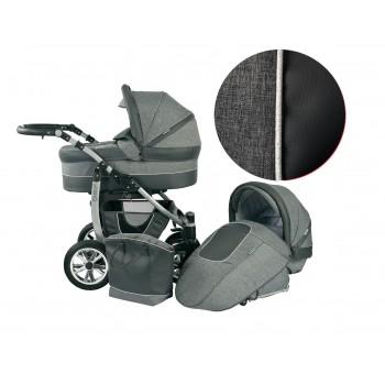 Детска количка 2 в 1, Baby Merc, модел Leo - Сива