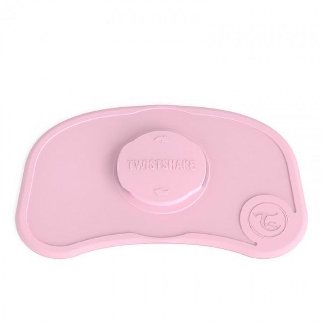 Самозалепваща се подложка за хранене Twistshake Мини 6+ месеца розова