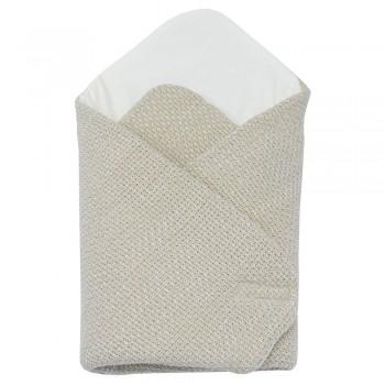 Бебешко плетено одеяло бежово