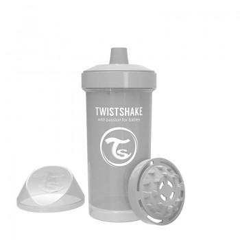 Детска чаша с шейкър Twistshake 360 мл 12+ месеца сива