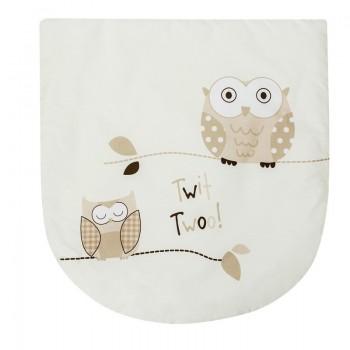 Палмова плетена кошница за новородено със спален комплект - Бухал