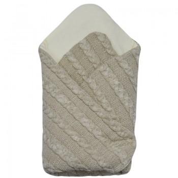 Плетено бебешко одеяло бежово