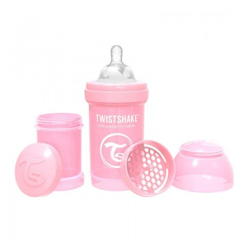 Шише против колики за бебета Twistshake 180 мл розово
