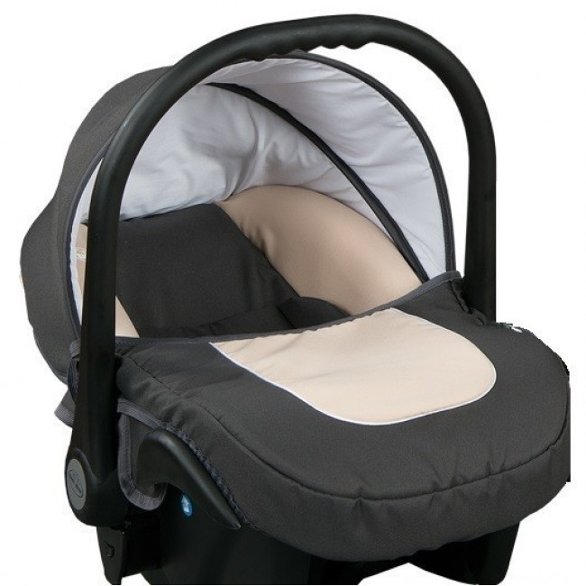 Бебешко кошче за кола 3-9 кг, Baby Merc Leo сиво и бежово