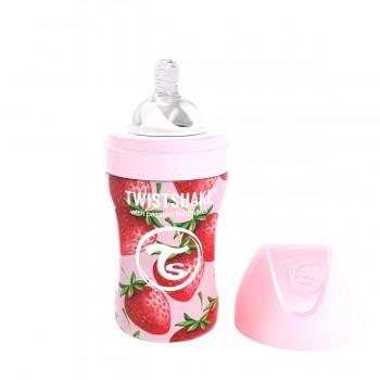 Бебешко шише Twistshake 260 мл от неръждаема стомана - Розова ягода