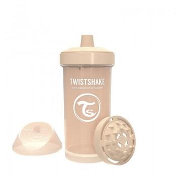 Детска чаша с шейкър Twistshake 360 мл 12+ месеца бежова
