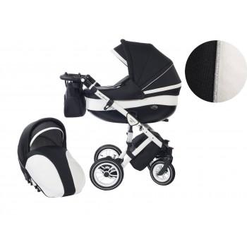 Количка Baby Merc 2 в 1 модел Style черна с бяло