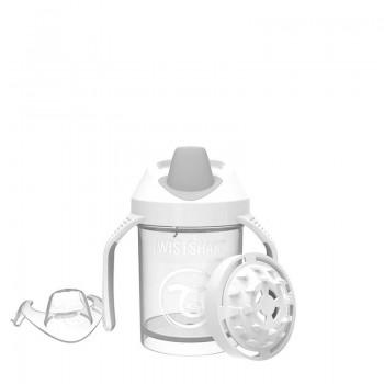 Мини чаша с шейкър Twistshake 230 мл 4+ месеца бяла