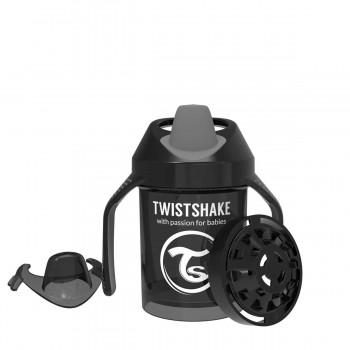 Мини чаша с шейкър Twistshake 230 мл 4+ месеца черна