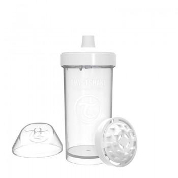 Детска чаша с шейкър Twistshake 360 мл 12+ месеца бяла