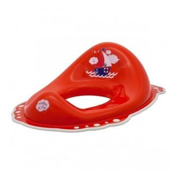 Детска седалка за тоалетна чиния Ocean & Sea червена