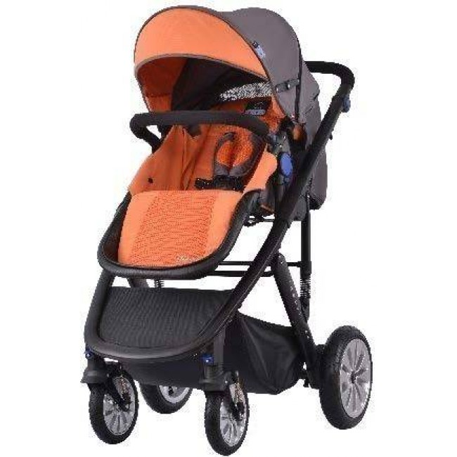 Комбинирана количка 2 в 1 Zooper Flamenco Honey Citrus, оранжево и черно