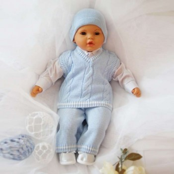Плетен комплект за момченца