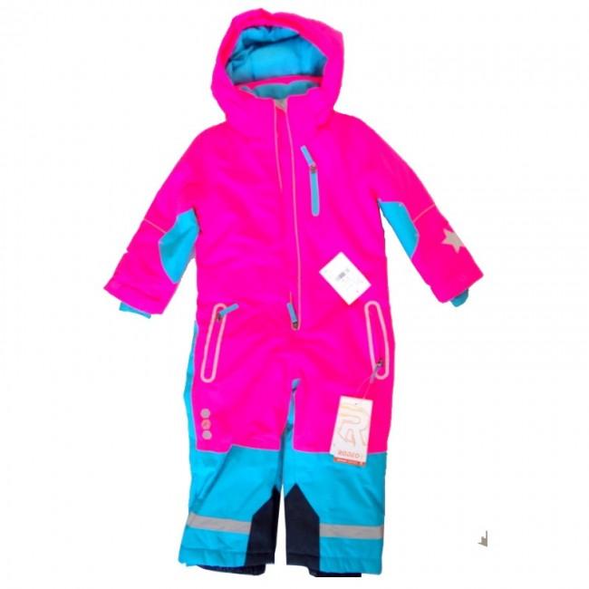 Дамски зимен екип за деца 92-98см, Розов-тюркоаз