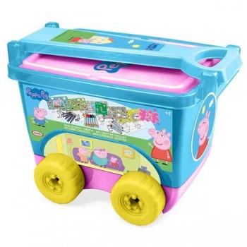 Детско камионче с пособия за рисуване - PEPPA PIG
