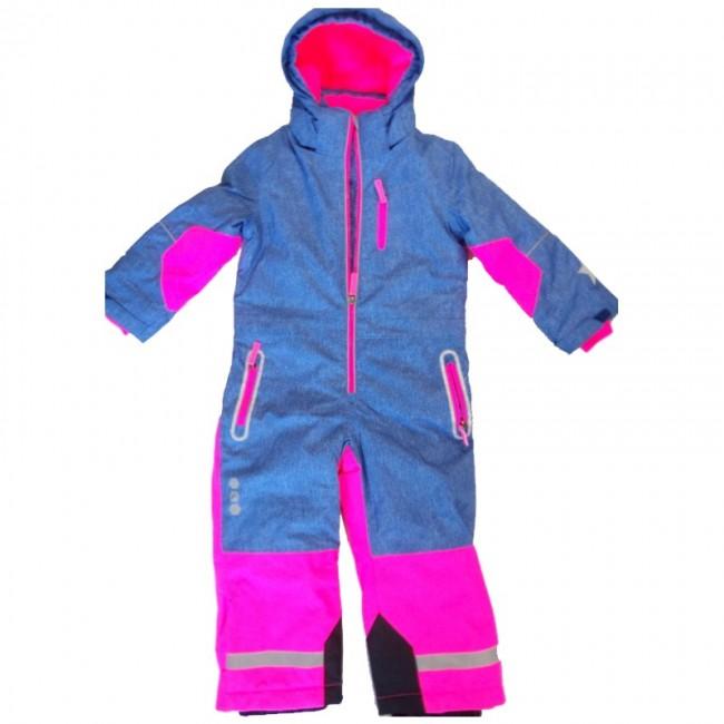 Детски зимен екип Гащеризон, Дънково синьо-розово