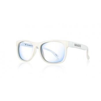 Детски очила за работа с компютър Shadez Blue Light 7+ години бели