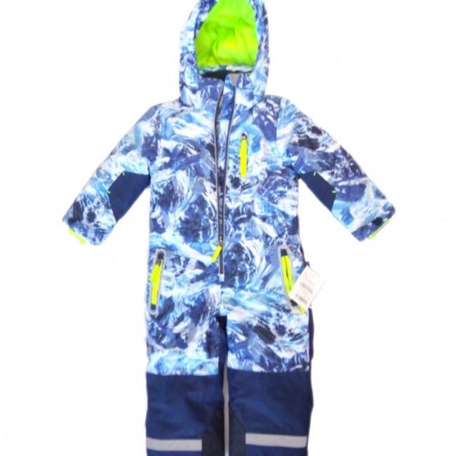 Детски зимен спортен екип Космонафт, Синьо-бял